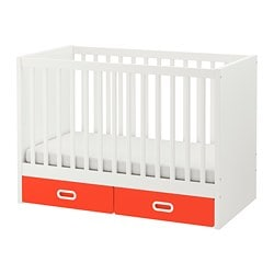 STUVA /  FRITIDS cot with drawers, red