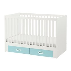 STUVA /  FRITIDS cot with drawers, light blue