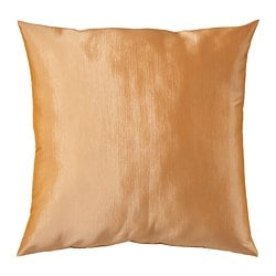 ULLKAKTUS cushion, gold-colour