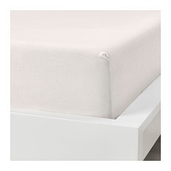 PUDERVIVA fitted sheet, white