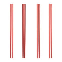 LYCKSALIG chopsticks 4 pairs, red