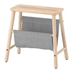 VILTO storage stool, birch
