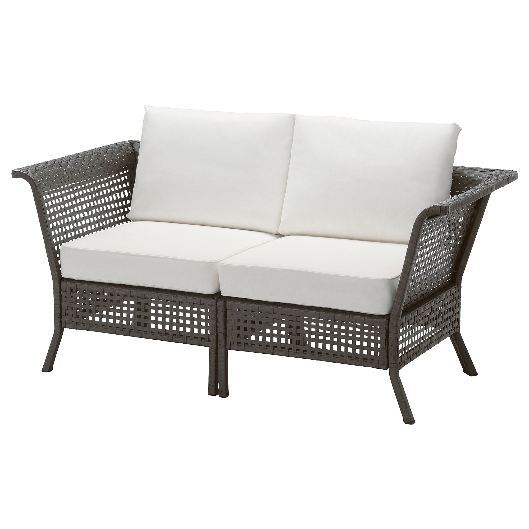 KUNGSHOLMEN Loveseat outdoor black brown Kungsö black IKEA