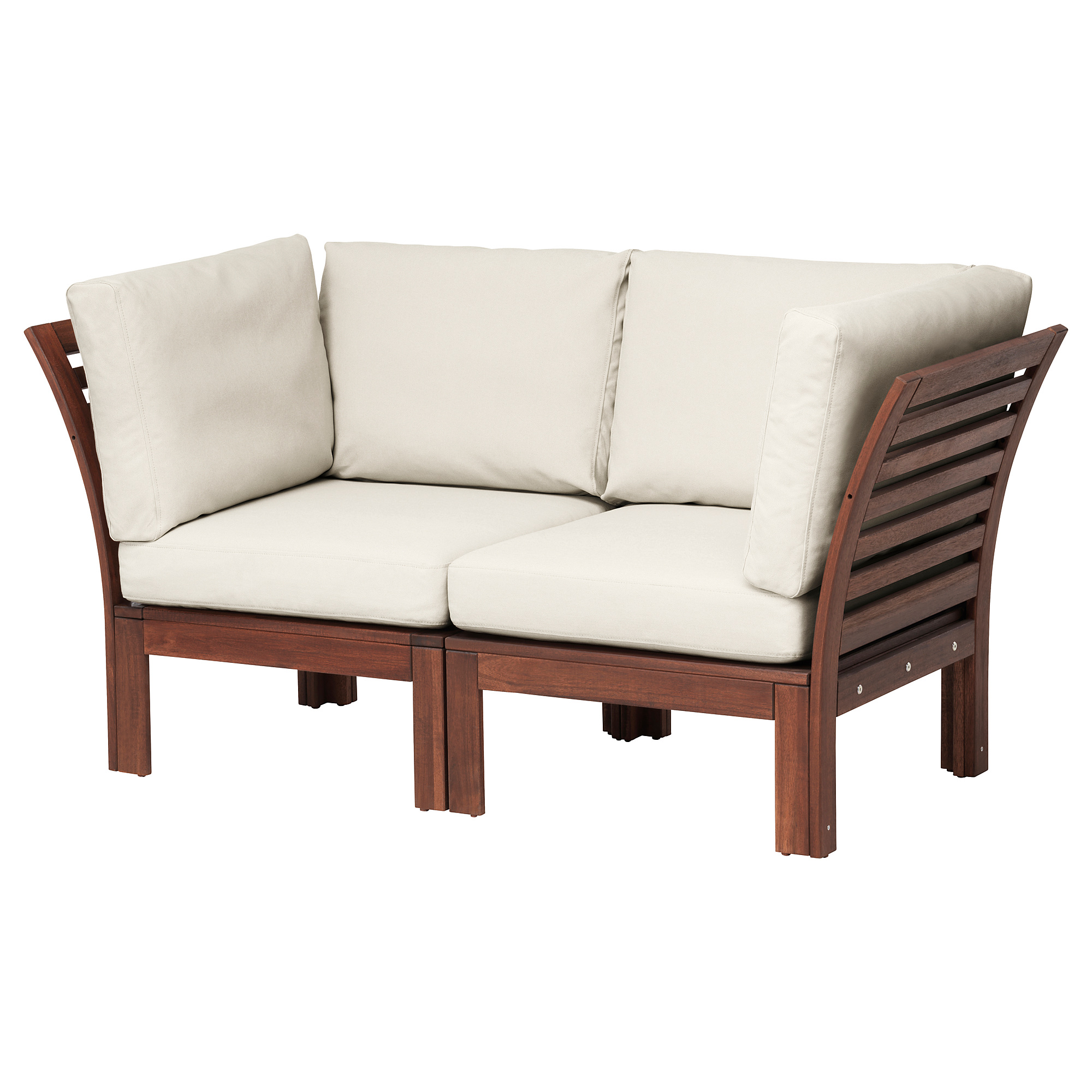 fabric futon northern frame welt oak log cedar loveseat with