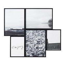 VAREKIL, Collage frame for 5 photos, black