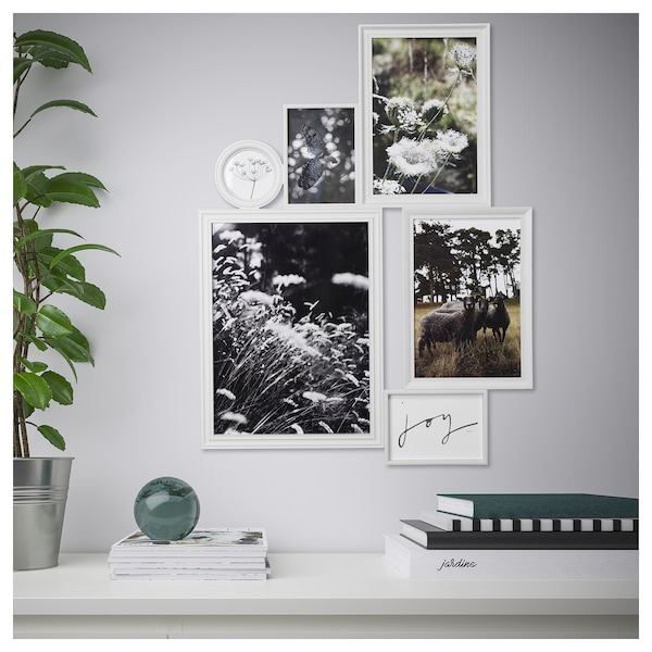 vitaby collage rahmen f r 6 fotos wei ikea. Black Bedroom Furniture Sets. Home Design Ideas