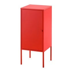 LIXHULT cabinet, metal, red
