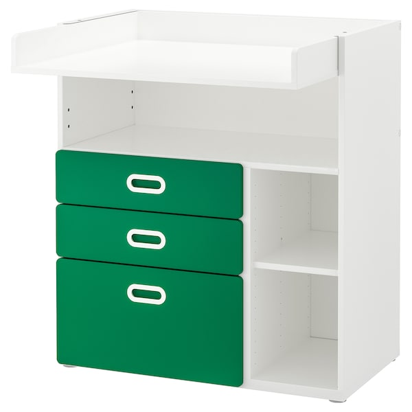 09f5ed81d10a STUVA / FRITIDS Changing table with drawers - white, green - IKEA