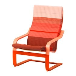 POÄNG Sessel, orange, Lyskraft orange