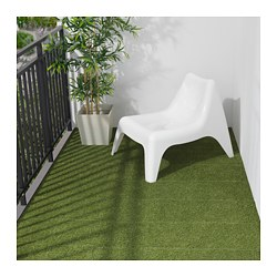 RUNNEN floor decking, outdoor, artificial grass