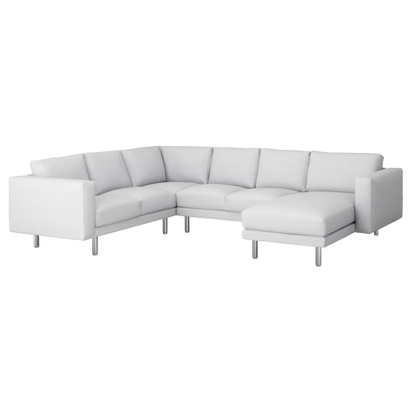 Admirable Corner Sofa 5 Seat Norsborg Finnsta With Chaise Longue Finnsta Metal White Metal Gmtry Best Dining Table And Chair Ideas Images Gmtryco