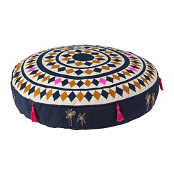 TILLTALANDE floor cushion, blue, pink