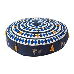 TILLTALANDE floor cushion, blue, brown
