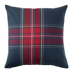 JUNHILD, Cushion cover, blue/red