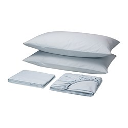 HARKLÖVER sheet set, blue