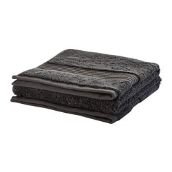BREDASUND hand towel, dark gray