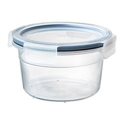 IKEA 365+ food container with lid, round, plastic