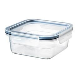 IKEA 365+ food container with lid, square, plastic