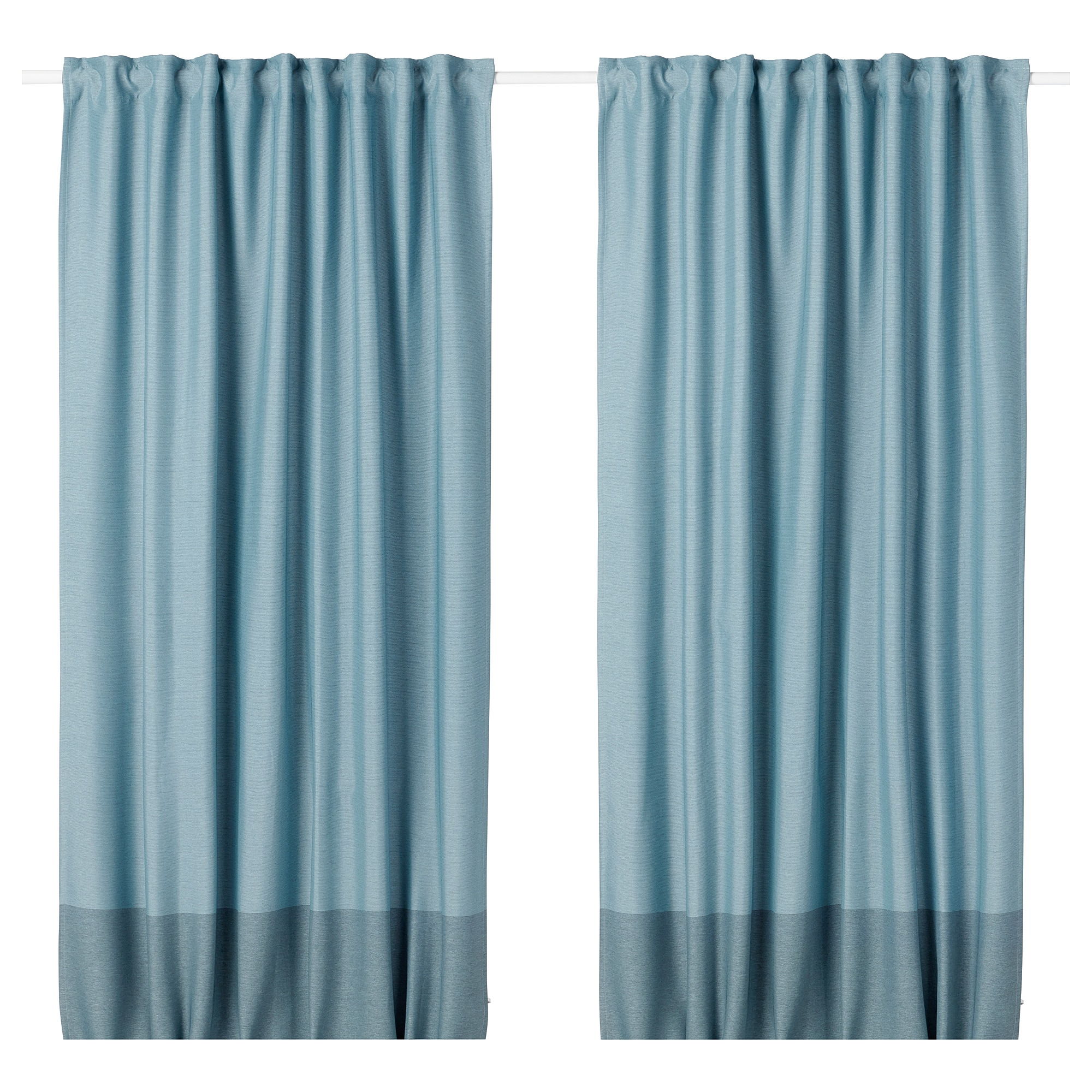 Marjun Room Darkening Curtains 1 Pair Blue Ikea