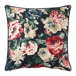 LEIKNY cushion cover, black, multicolor