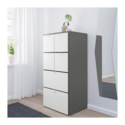 visthus kommode mit 6 schubladen grau wei 63x126 cm ikea. Black Bedroom Furniture Sets. Home Design Ideas