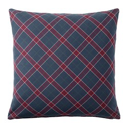 INGERILSE cushion cover, blue/red