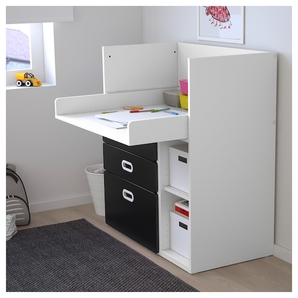 354b9865d0eb STUVA / FRITIDS Changing table with drawers - white, blackboard ...