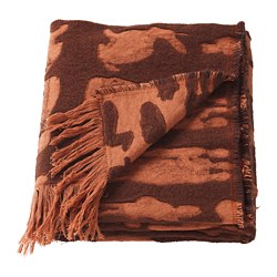 FÖREMÅL throw, brown, orange