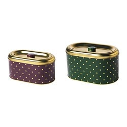 VINTER 2018 storage tin with lid, set of 2