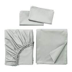 NATTJASMIN sheet set, light gray