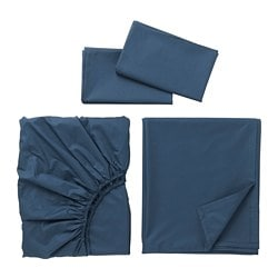ULLVIDE sheet set, dark blue