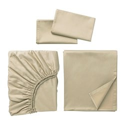 NATTJASMIN sheet set, beige