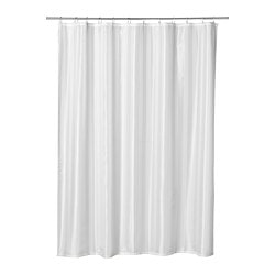 SALTGRUND Shower Curtain White