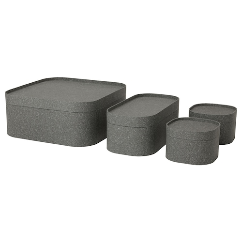 IKEA SAMMANHANG Box with lid, set of 4