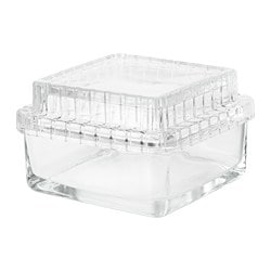 SAMMANHANG, Glass box with lid, clear glass
