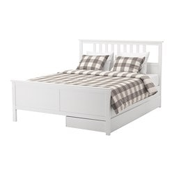 Merveilleux HEMNES Bed Frame With 2 Storage Boxes