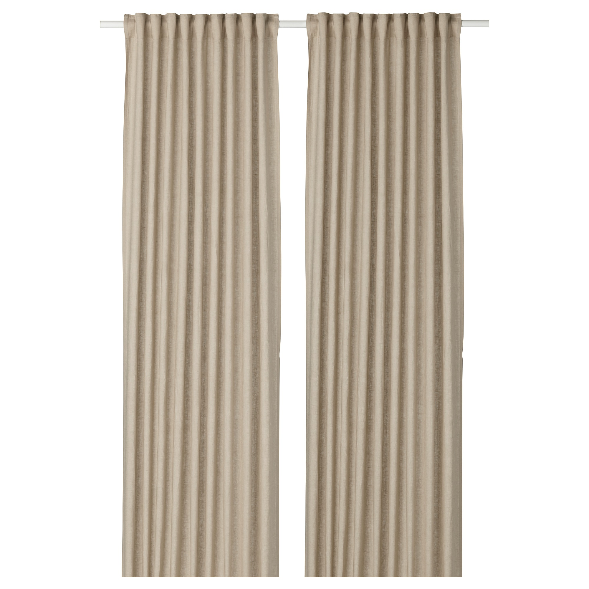 AINA Curtains 1 Pair Beige