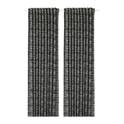 SOLIDASTER block-out curtains, 1 pair, black, multicolour
