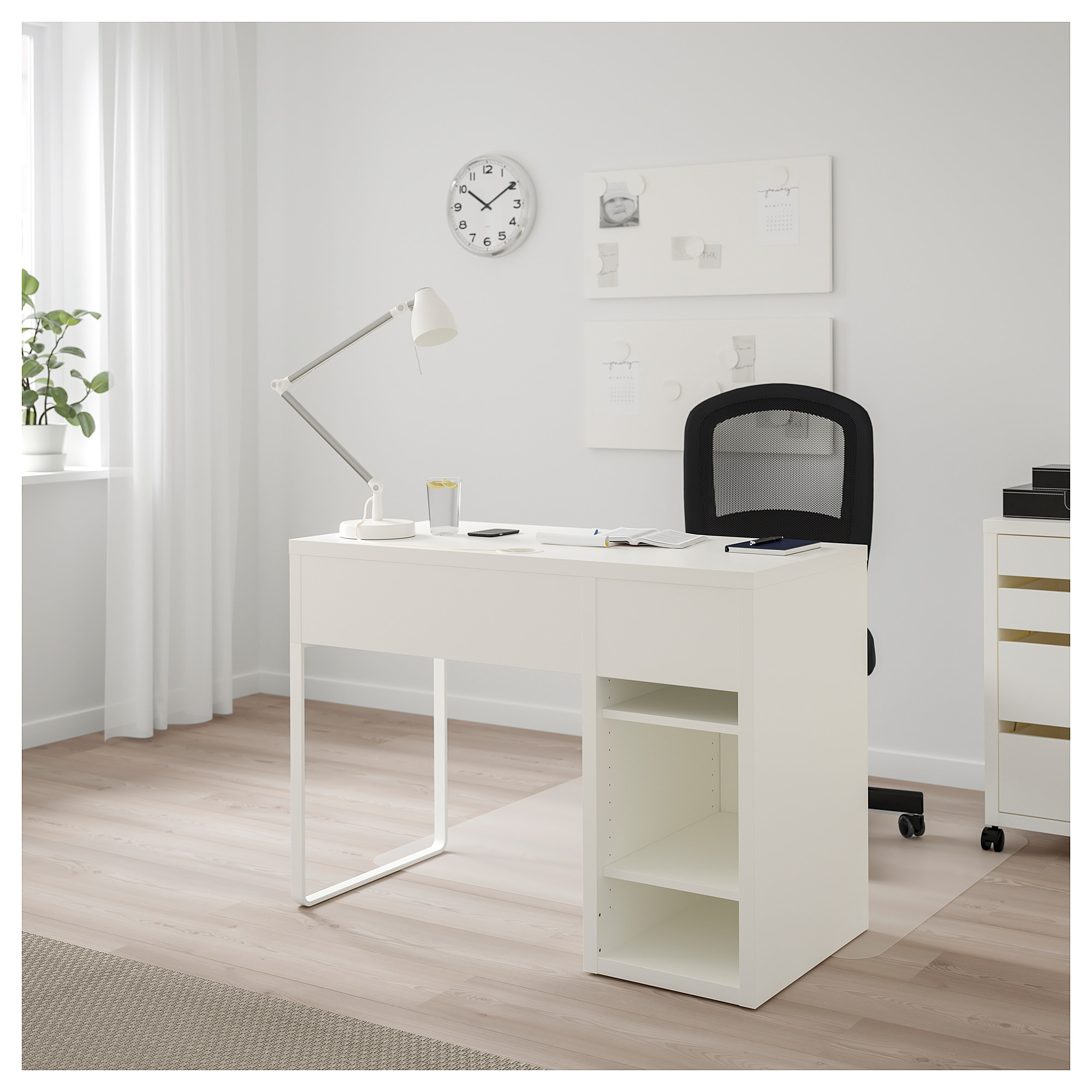 Micke Desk White Ikea Spacesaving Design Simplifies Inwall Wiring And Keeps Messy Cables