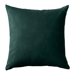 SANELA, Cushion cover, dark green