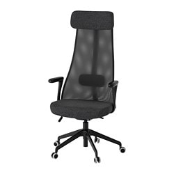 JÄRVFJÄLLET Swivel Chair With Armrests, Gunnared Dark Gray, ...