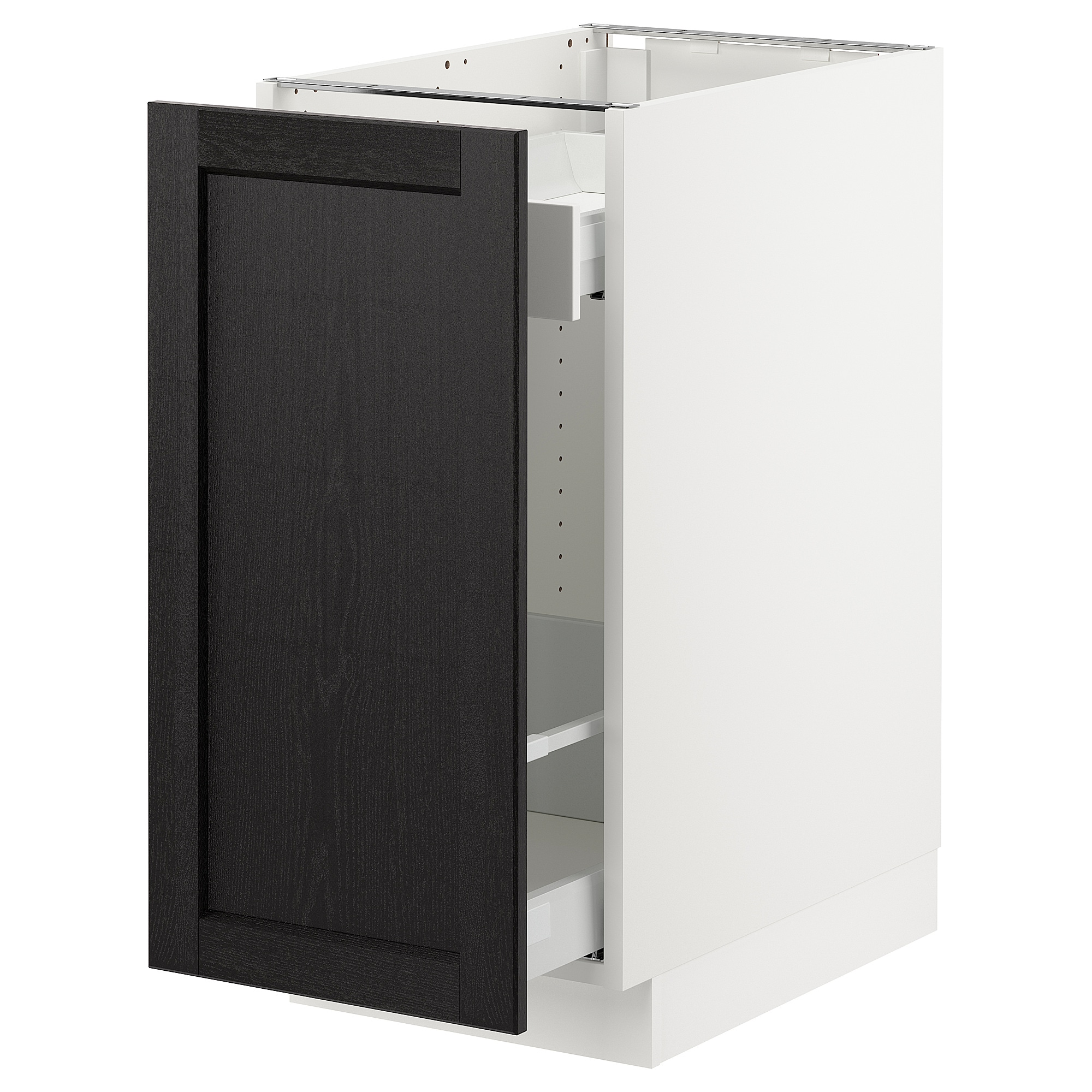 Sektion Base Cabinet With Pull Out Storage  White, , Bodbyn