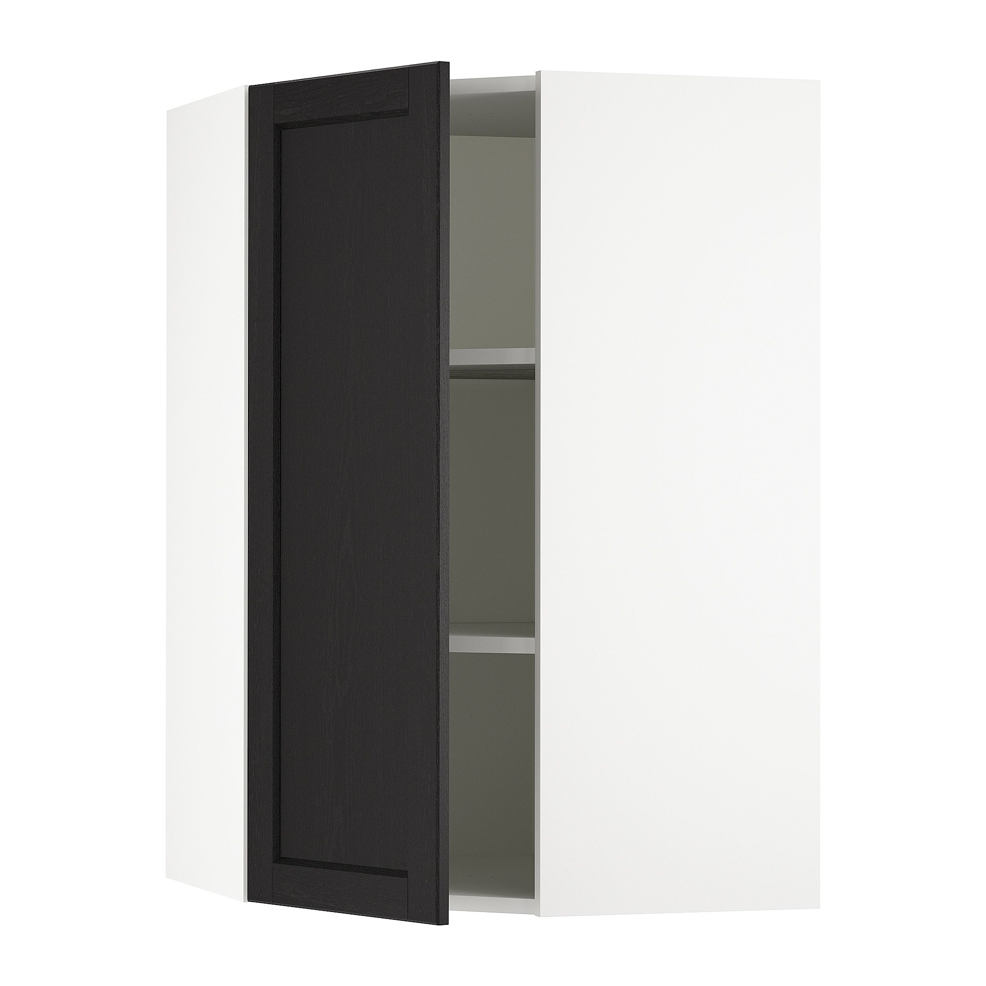 Sektion Corner Wall Cabinet With Shelves White Järsta Black Blue