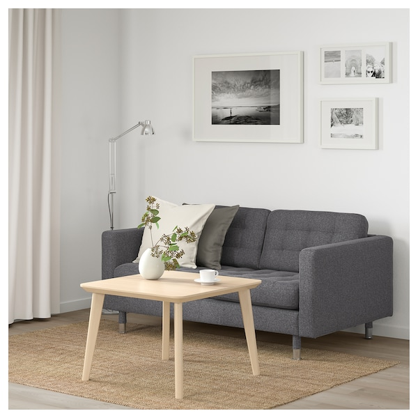 landskrona 2er sofa gunnared dunkelgrau metall ikea. Black Bedroom Furniture Sets. Home Design Ideas