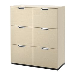 GALANT storage combination with filing, birch veneer