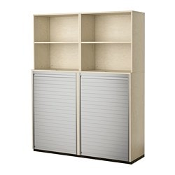 GALANT storage combination with roll-front, birch veneer