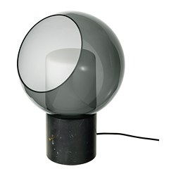 EVEDAL lampe de table, gris, globe