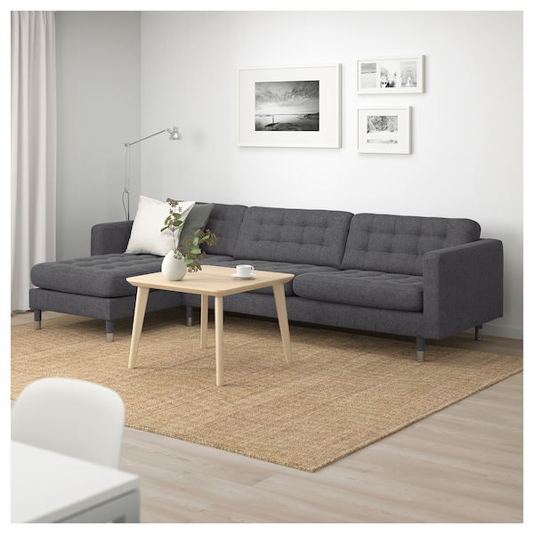 landskrona 4 seat sofa with chaise longue gunnared dark. Black Bedroom Furniture Sets. Home Design Ideas