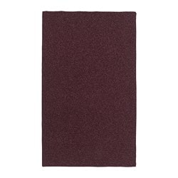 OPLEV door mat, in/outdoor wine red