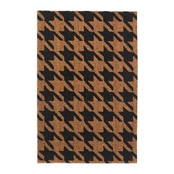 VORUP door mat, natural, black